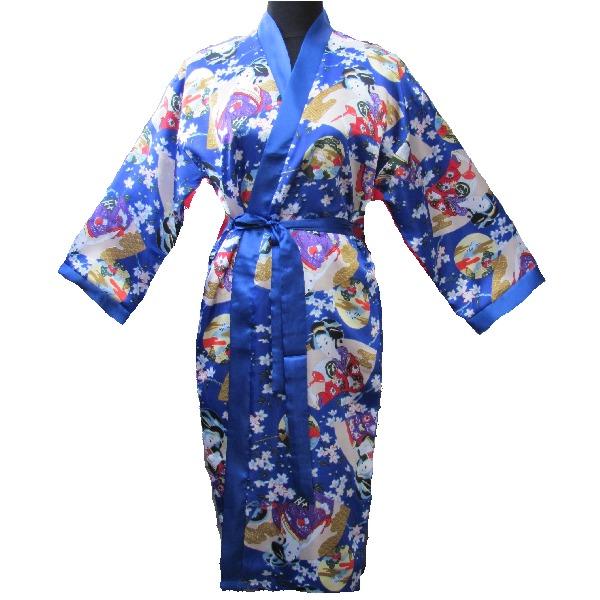 kimono femme japonais bleu avec nuisette femme japon. Black Bedroom Furniture Sets. Home Design Ideas