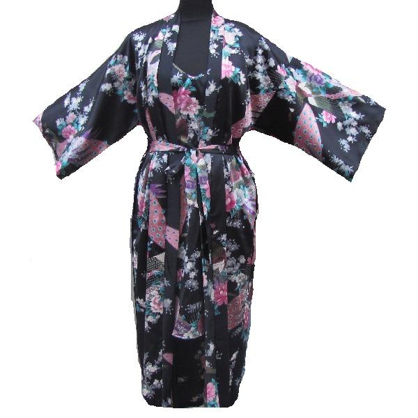 super populaire 774b7 d128f Kimono Japon Longue Noir Avec Nuisette