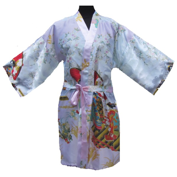 Kimono japonais court rose boutique paris - Magasin japonais paris ...