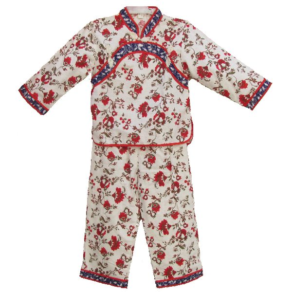 pyjama enfant fille fleur asiatique. Black Bedroom Furniture Sets. Home Design Ideas
