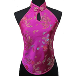 Bustier Dos Nu Fushia Dragon Asiatique