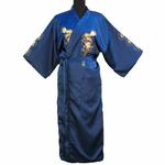 Kimono Soie Bleu