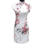 Robe Coton Blanc Fleur Motif
