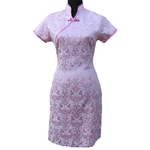 Robe Hotesse Asiatique Rose