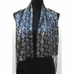 Echarpe Foulard Soie Bleu Unique Paris