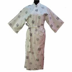 Kimono Blanc Ecru en Coton