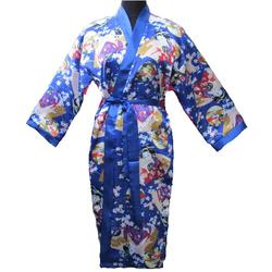 Kimono Femme Japonais Bleu Avec Nuisette Femme Japon
