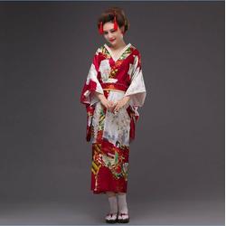 Kimono Japonais Rouge Bordeaux