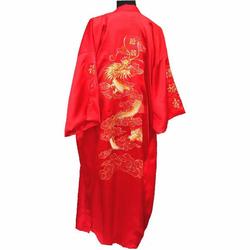 Kimono en Soie Rouge