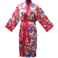 Kimonos Japonais Rouge Bonheur Femme Avec Nuisette