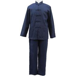 Pyjama Lin Bleu Taiqi Asiatique