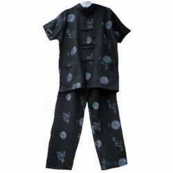 Pyjamm Enfant Noir Asiatique Motif