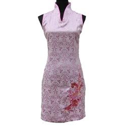 Robe Court Sans Manche Rose Asiatique
