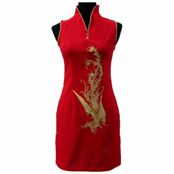 Tunique Asiatique Motif Phenix