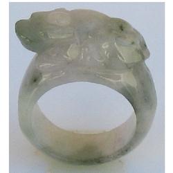Bague Jade Blanc Asiatique