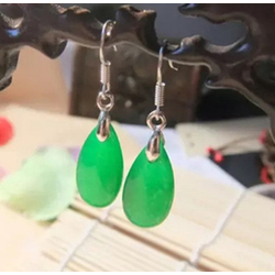 Boucles Oreille en Perles Jade