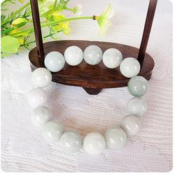 Bracelet Jade Boule Blanc Bonheur