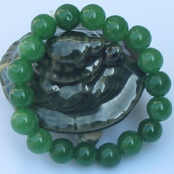 Bracelet Jade Perle Vert Vietnam Bonheur