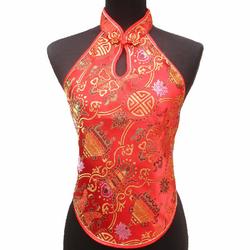 Bustier Asiatique Rouge Bonheur