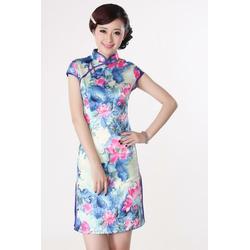 Robe Asiatique Courte Collection Manifique