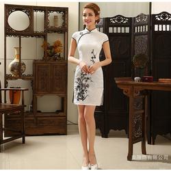 Robe Asiatique  Motif Fleur Bonheur