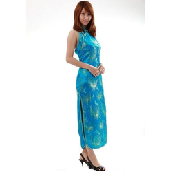 Robe Bleu Dos Nue Asiatique CLONE
