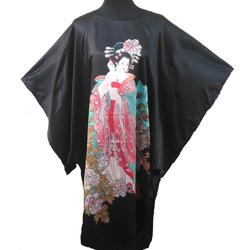 Robe Kimono Asiatique Noire