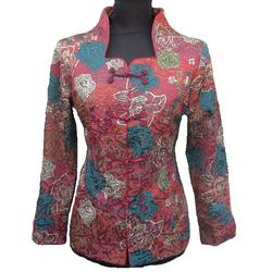 Veste Asiatique Coton Motif Bonheur