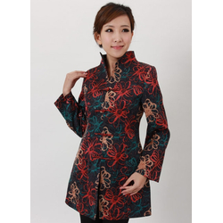 Veste Asiatique Tunique Longue Coton