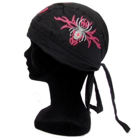 Bandana Chapeau Noir Spider Motif