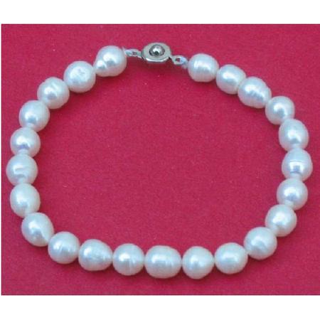 Bracelets en Perle Eau Douce Blanc