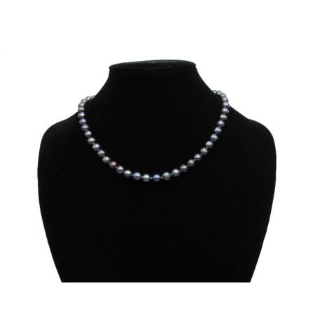 Collier en Perles Culture Noir