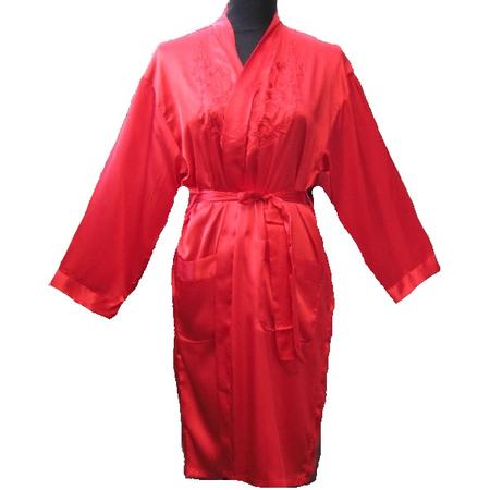 Kimono Court Rouge Nuisette