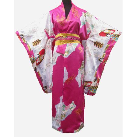 Kimono Japon Femme Fushia Motif