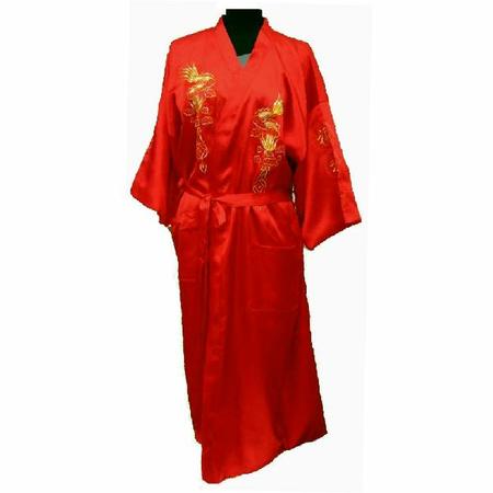 Kimono en Satin Rouge