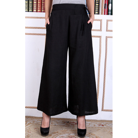 Pantalon Homme Femme Mixe Motif Dragon Noir Asiatique