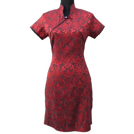 Robe Asiatique Femme Rouge Bordeaux