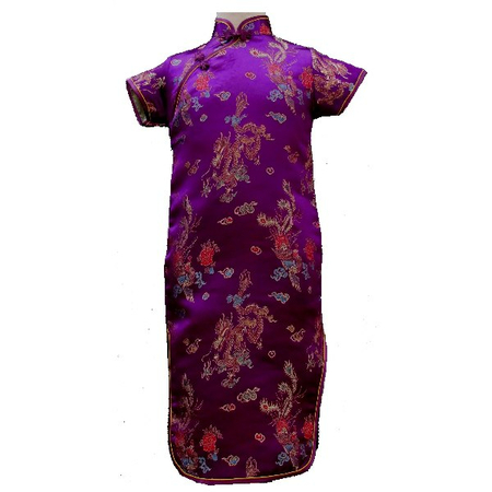 Robe Asiatique Violette