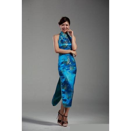 Robe Bleu Dos Nue Asiatique
