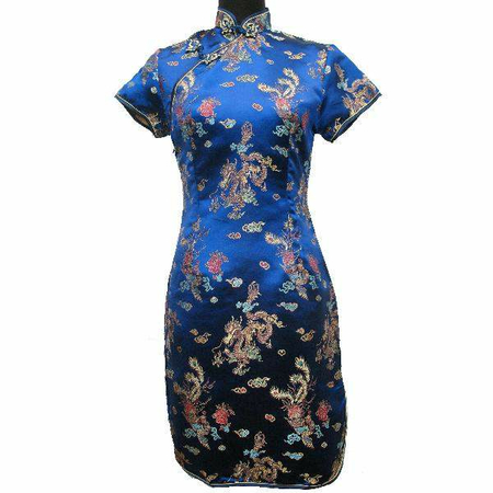Robe Magasin Asiatique Bleu