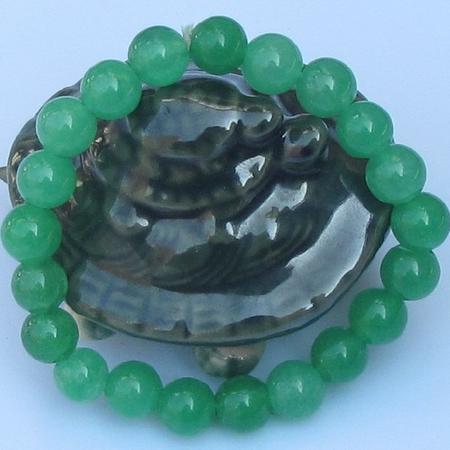 Bracelet Jade Vietnam Petite Perle Vert Clair