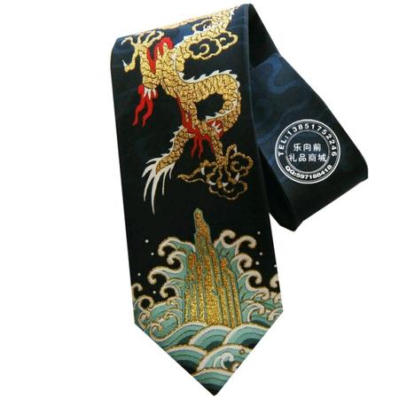 Cravate Dragon Motif