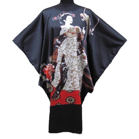 Kimono Robe Grand Taille Motif Femme Japonais Asiatique