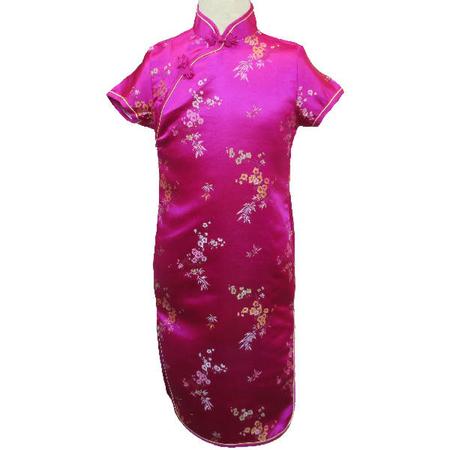 Robe Asiatique Fushia