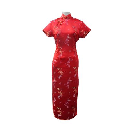 Robe Asiatique Rouge Boutique