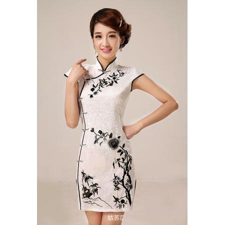 Robe de Soirée Asiatique Courte