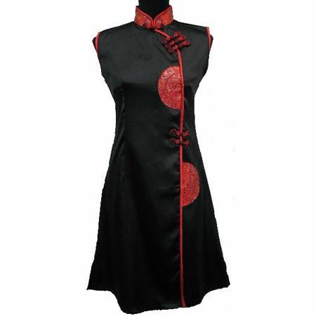 Robe de Soirée en Soie Asiatique Noire