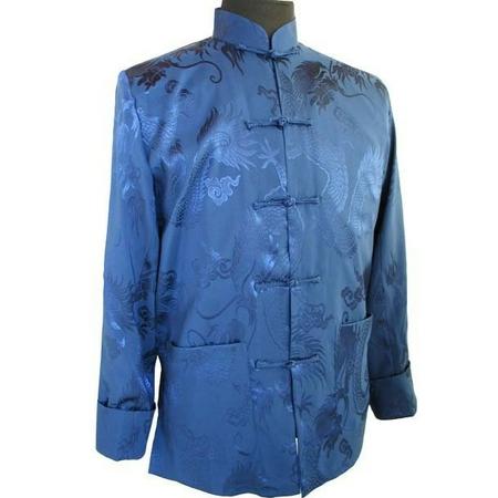 Veste Asiatique Homme  Bleu