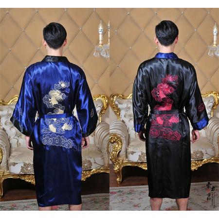 Kimono Asiatique Noir Japonais